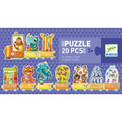 Puzzle Associativo Numeri e Animali 20 pezzi dai 3 anni