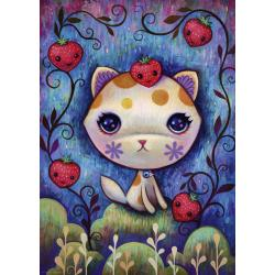 Puzzle Strawberry Kitty 1000 pezzi