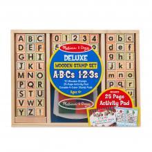 Set Timbri in Legno Lettere e Numeri dai 4 anni
