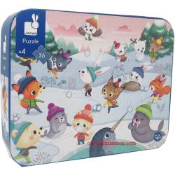 Puzzle Festa Sulla Neve + 4 anni
