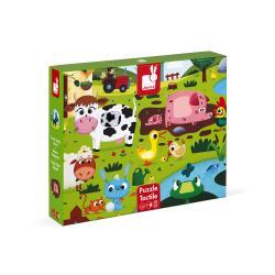 Puzzle Tattile Gli Animali della Fattoria 20 pezzi 2-4 anni