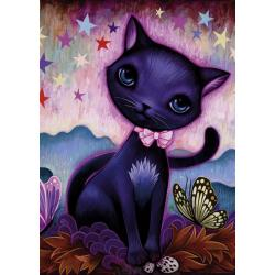 Puzzle Black Kitty 1000 pz