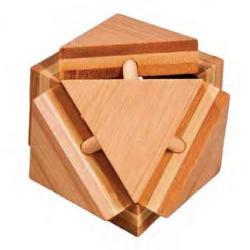 """Rompicapo in legno """"Triangolo"""" Difficoltà: Incredibile"""