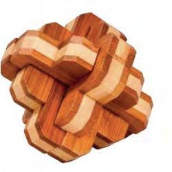 """Rompicapo in legno """"Nodo rotondo"""" Difficoltà: Dilemma"""