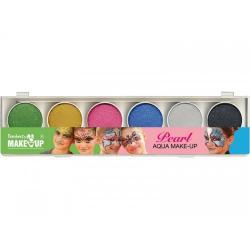 Tavolozza 6 colori ad acqua glitter