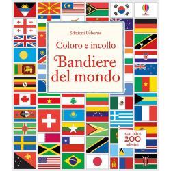 Bandiere del Mondo colora e incolla +6 anni
